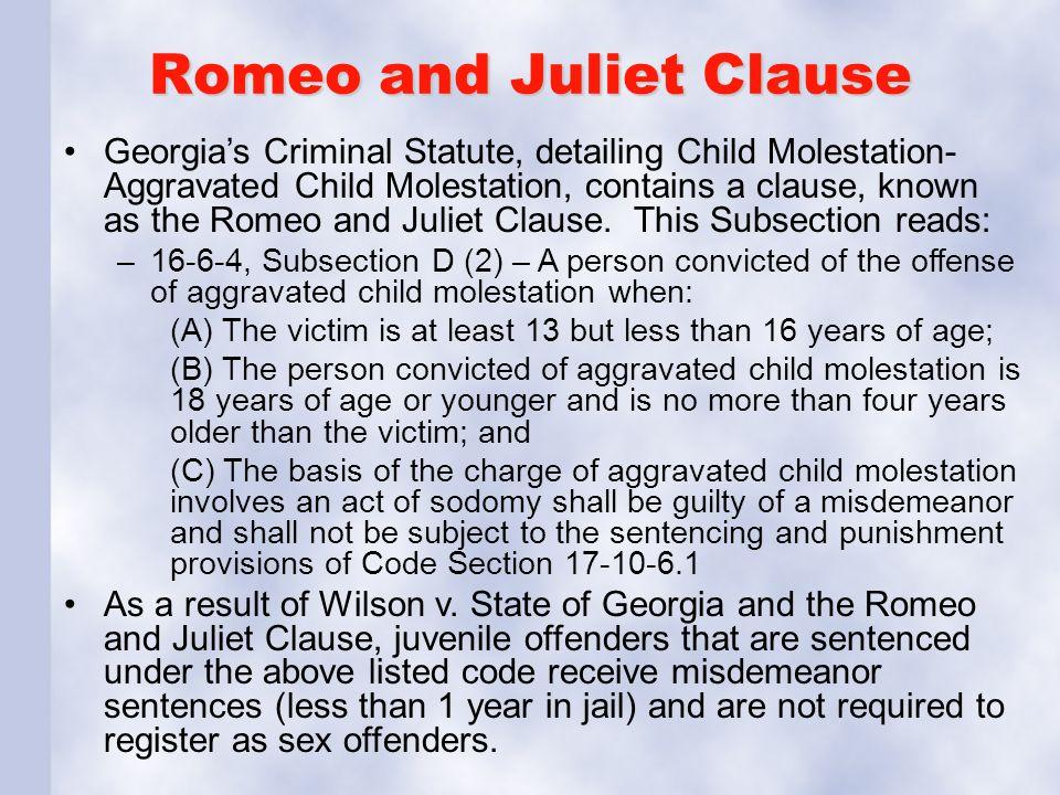 Romeo and juliet law georgia