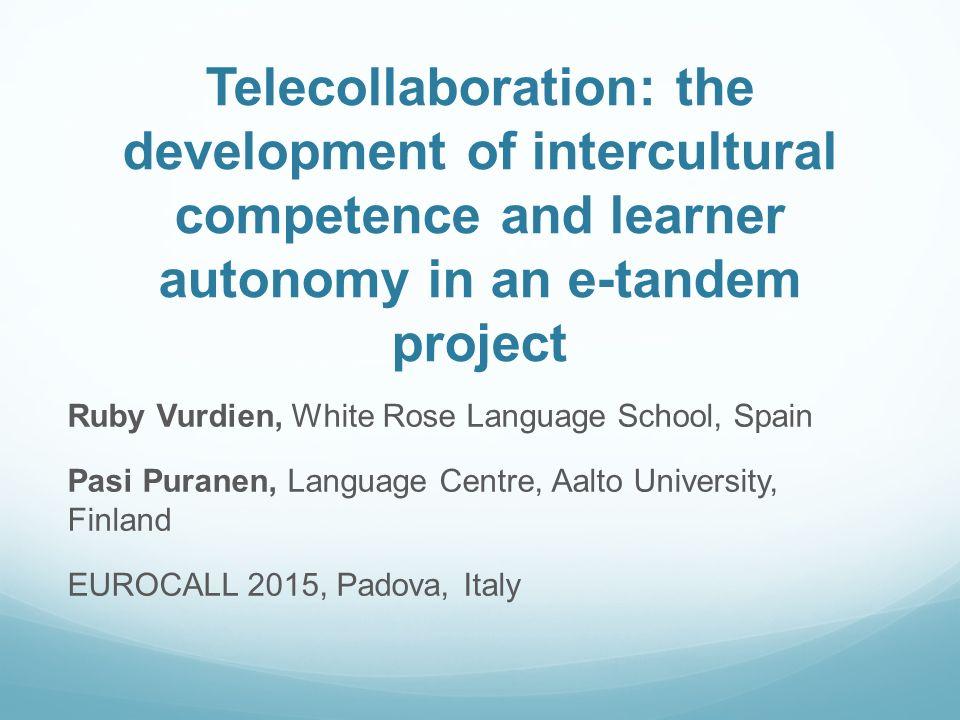 Telecollaboration: the development of intercultural