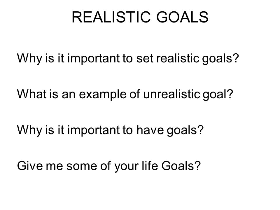 the importance of goals in our lives Here are 7 reasons why it's important to set goals 1 take control of your life many people today are sleepwalking through life even though they work hard, they don't feel like they are getting what they want that's because they don't have a direction of where they want to go, what they want to achieve.
