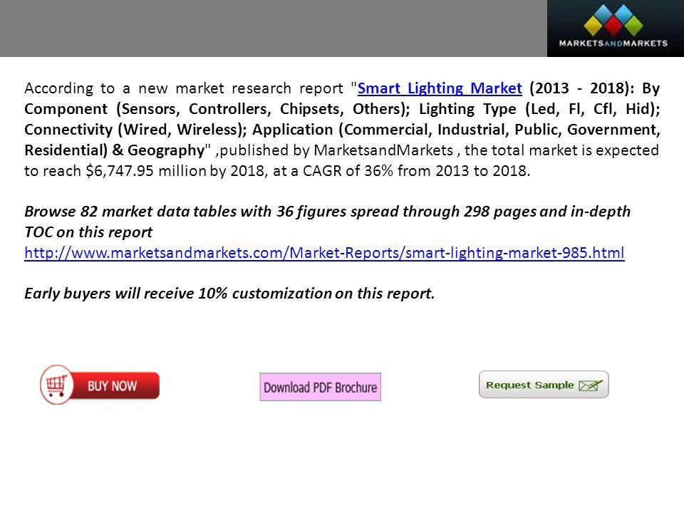 2 According to a new market research report  Smart Lighting ...  sc 1 st  SlidePlayer & MarketsandMarkets Presents Smart Lighting Market worth $6 Million ...