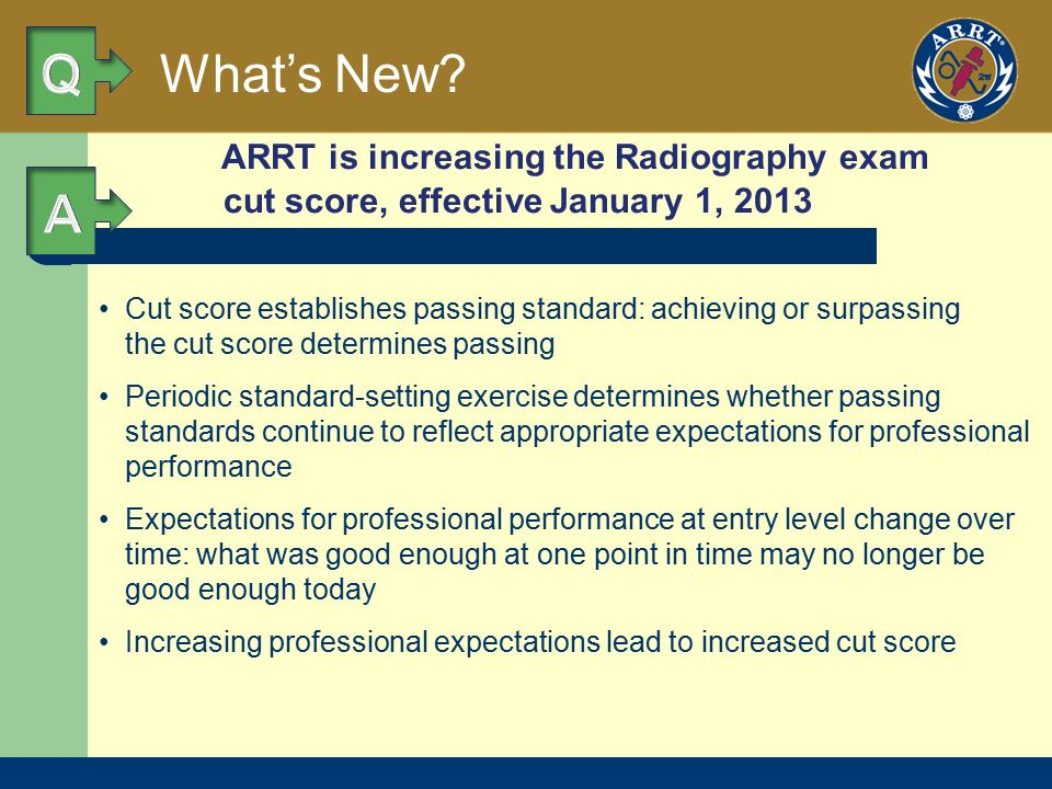 National Certification Initial Recognition: ARRT Primary