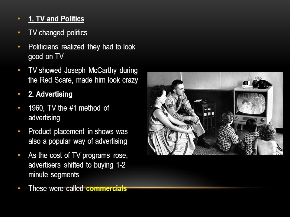 Unit 4 Section 1 Part 6 THE TELEVISION AGE  A  TELEVISION CHANGES