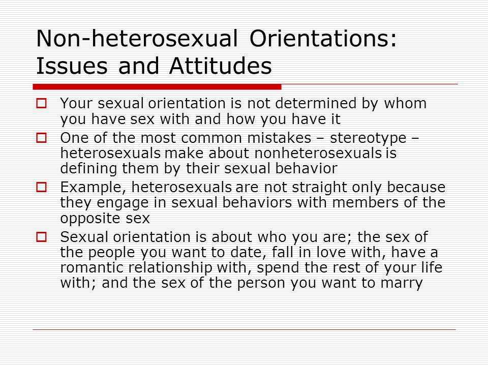 orientation Nonheterosexual