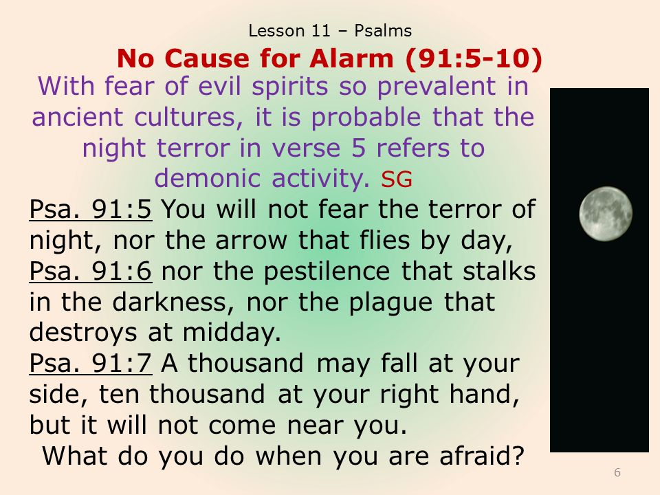 """Lesson 11 of 13 May 12, 2013 """"Testifying of God's Security"""