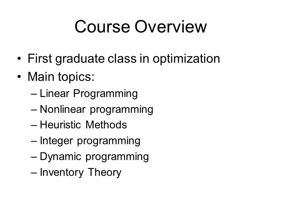 ism 206 optimization theory and applications fall 2011 lecture 1