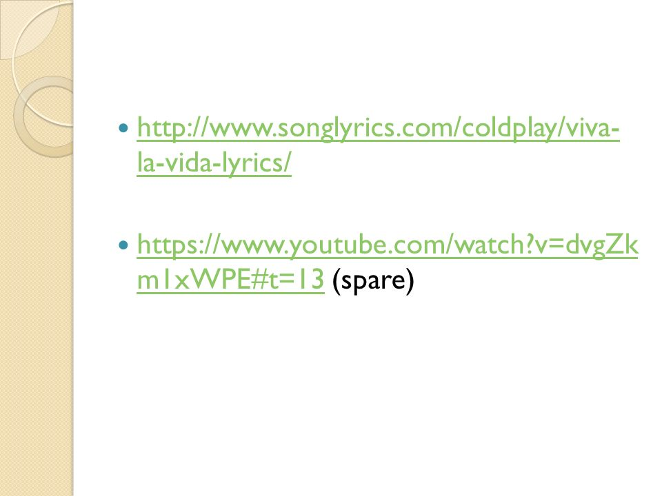Lyric coldplay viva la vida lyrics : Government and Politics in Europe November 27, 2014 By Hung-jen ...