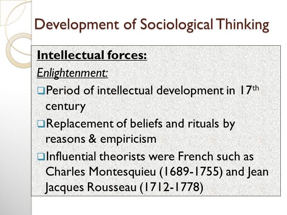sociological thinking definition