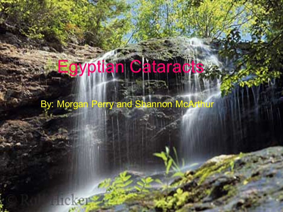 Egyptian Cataracts By Morgan Perry And Shannon Mcarthur Egyptian