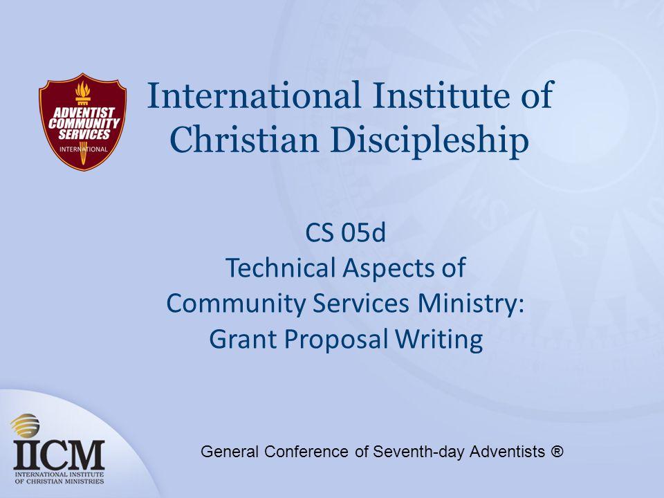 International Institute of Christian Discipleship CS 05d