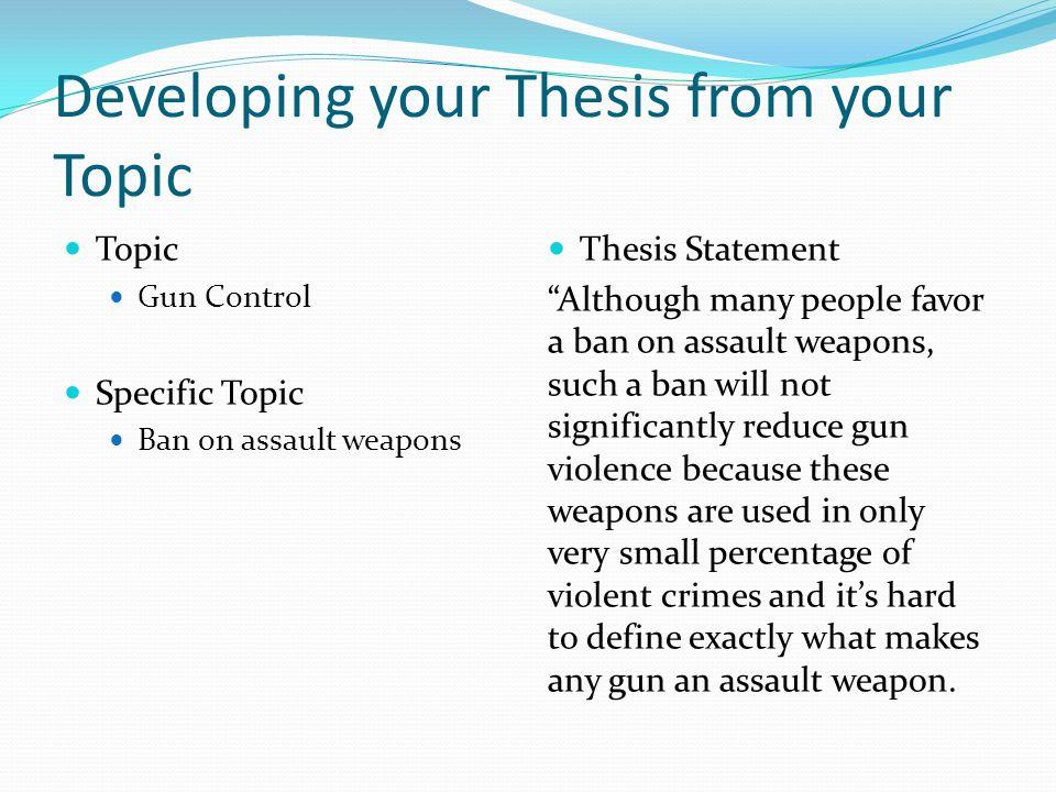 gun control thesis