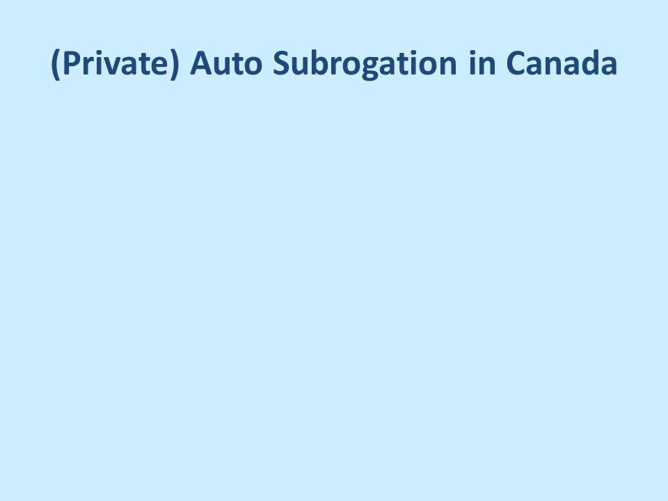 Private Auto Subrogation In Canada Private Auto Insurance