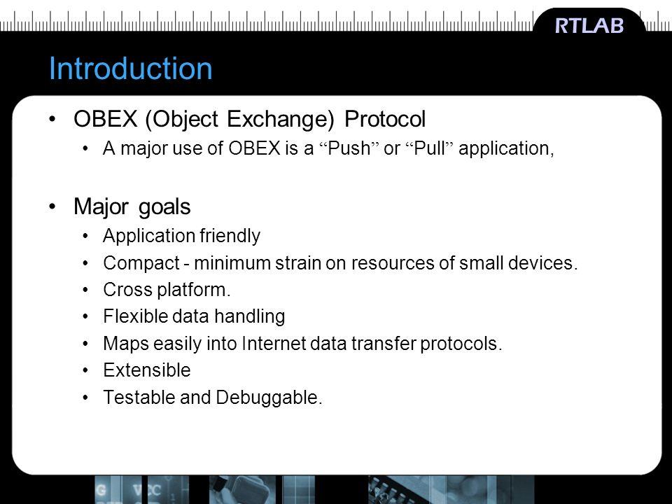 RTLAB Object Exchange Protocol OBEX Lee, Seungryun RTLAB