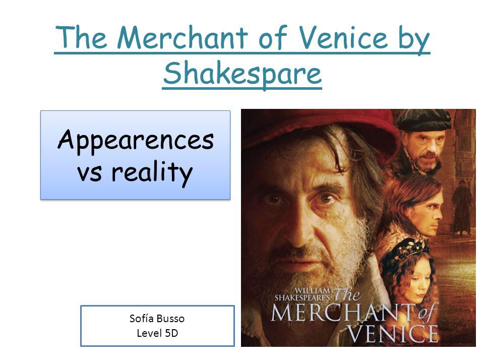 appearance vs reality merchant of venice