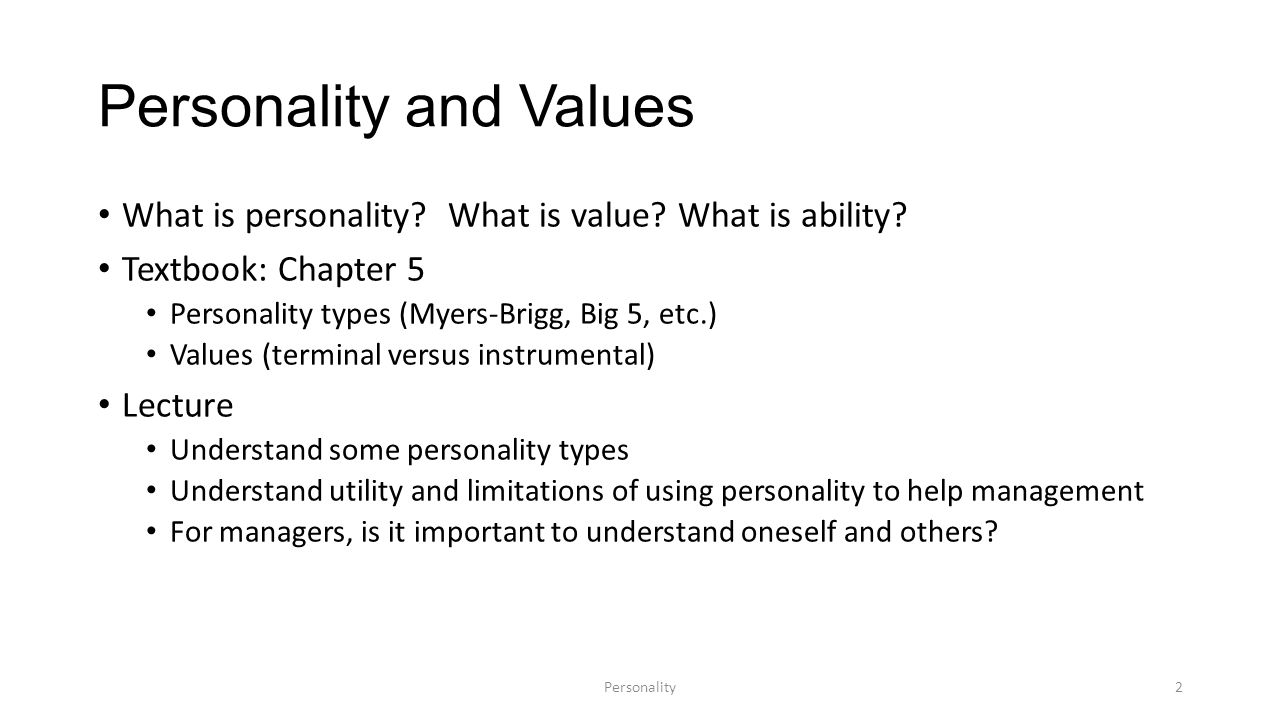 Personality - what is it 18