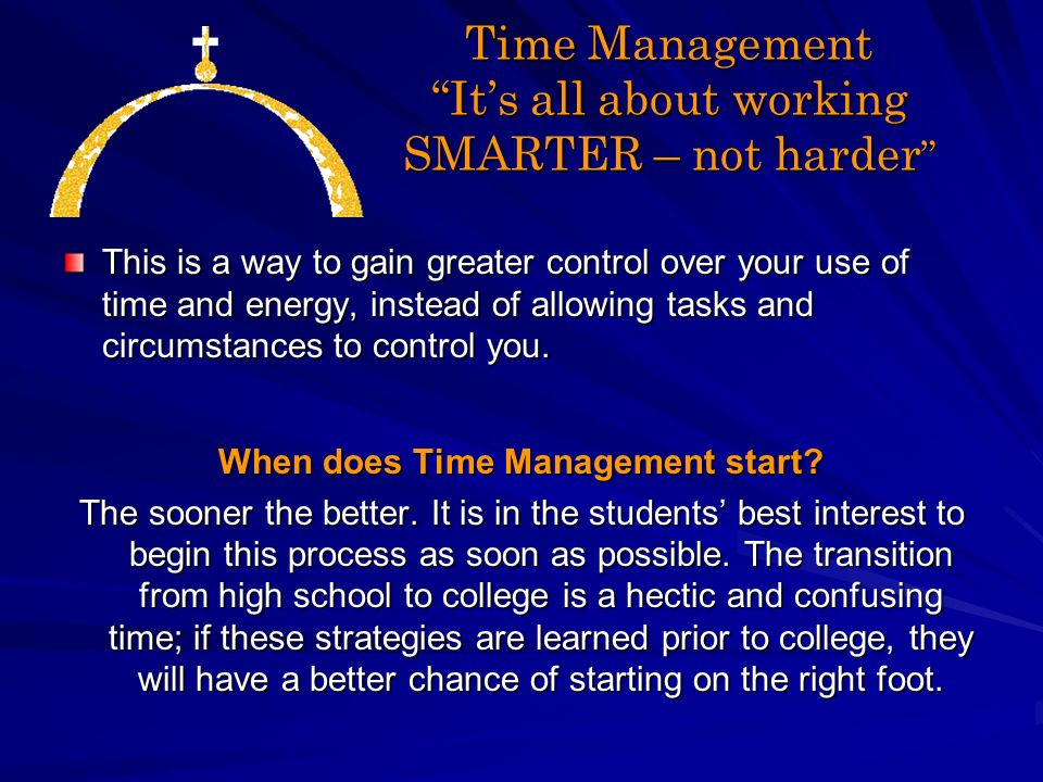 Manage Your Time Effectively Anne Marie Dobies Director Of