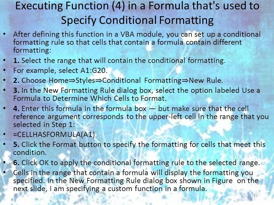 Excel VBA – Creating Function Procedures Dr Joanna Wyrobek ppt download