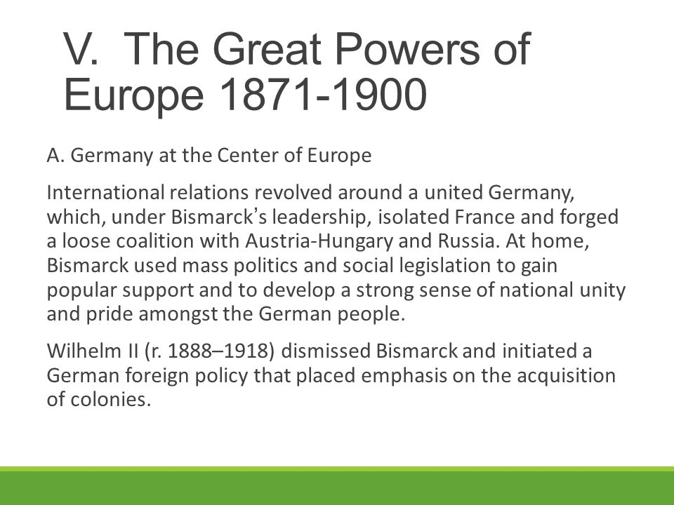 strong leadership of bismark unites the german states Soft balancing against the united states has begun, but balancing against a sole superpower is not destiny at bottom, the world's major powers are reacting.