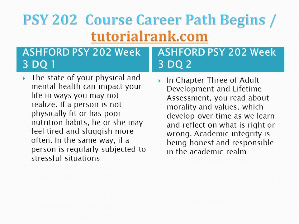 Psy 202 adult development and life assessment