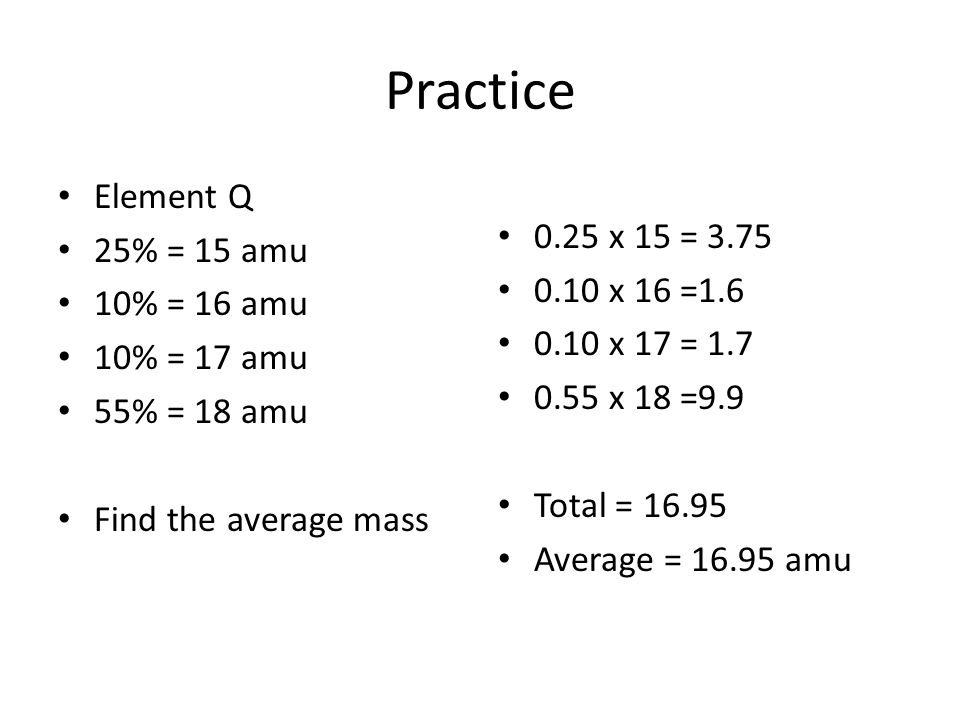 Average atomic mass of isotopes calculating the average atomic mass 3 calculating the average atomic mass element urtaz Images