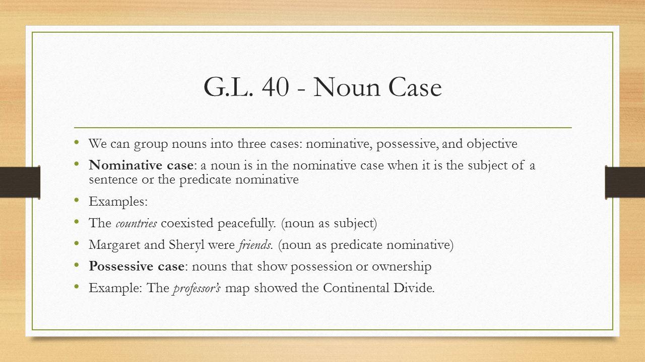 Pronoun case.