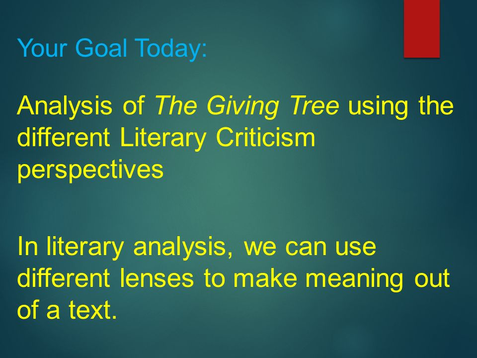 the giving tree analysis