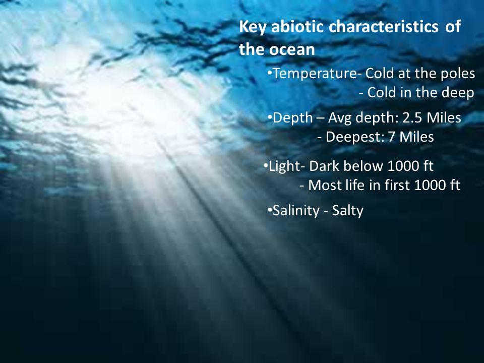 Key abiotic characteristics of the ocean temperature cold at the 1 key abiotic characteristics of the ocean publicscrutiny Choice Image