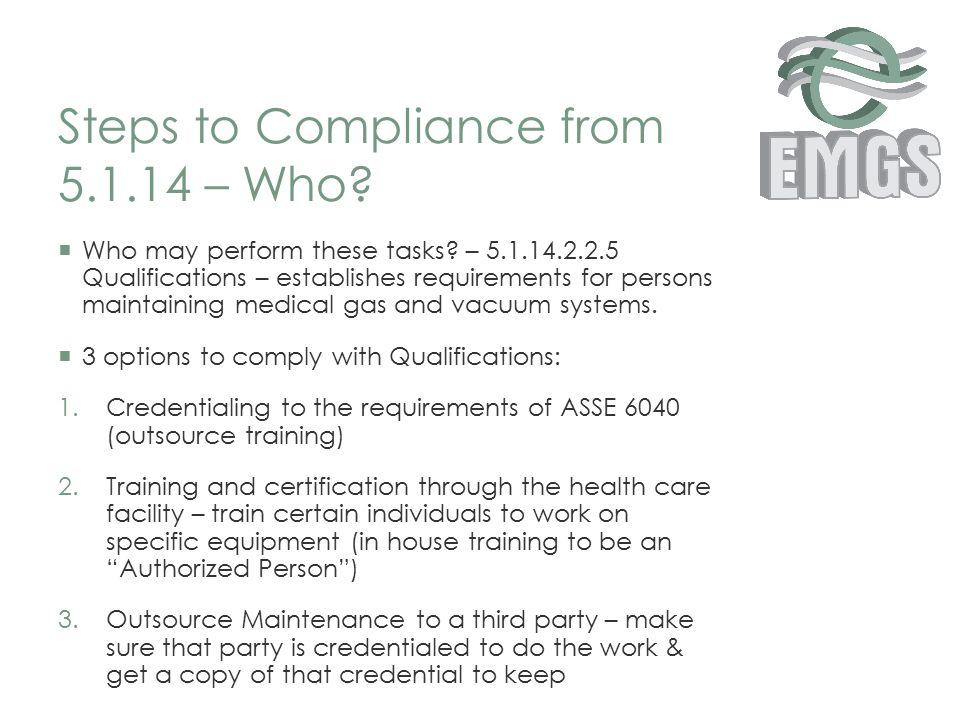 Nfpa 99 2012 Building A Better Medical Gas Maintenance Program