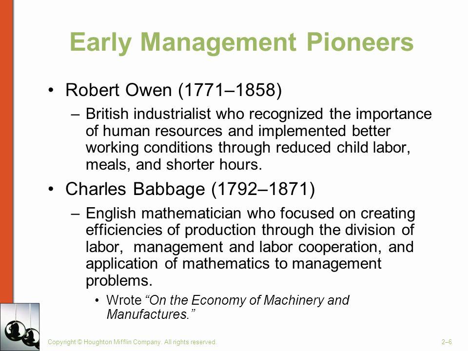 robert owen management