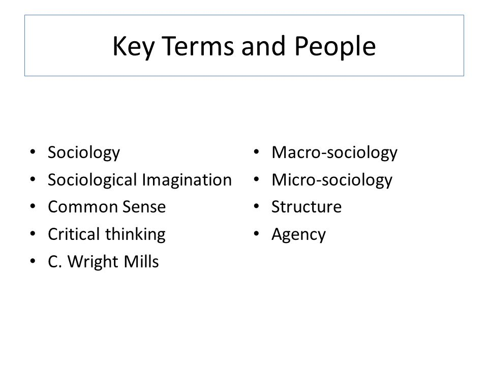 micro macro sociology essay example Sociological imagination is the ability of connecting micro level to the macro level, and distinguishing personal troubles and social issues importance of sociological imagination external act of an individual displays what one does, which is the result of cause and effect.
