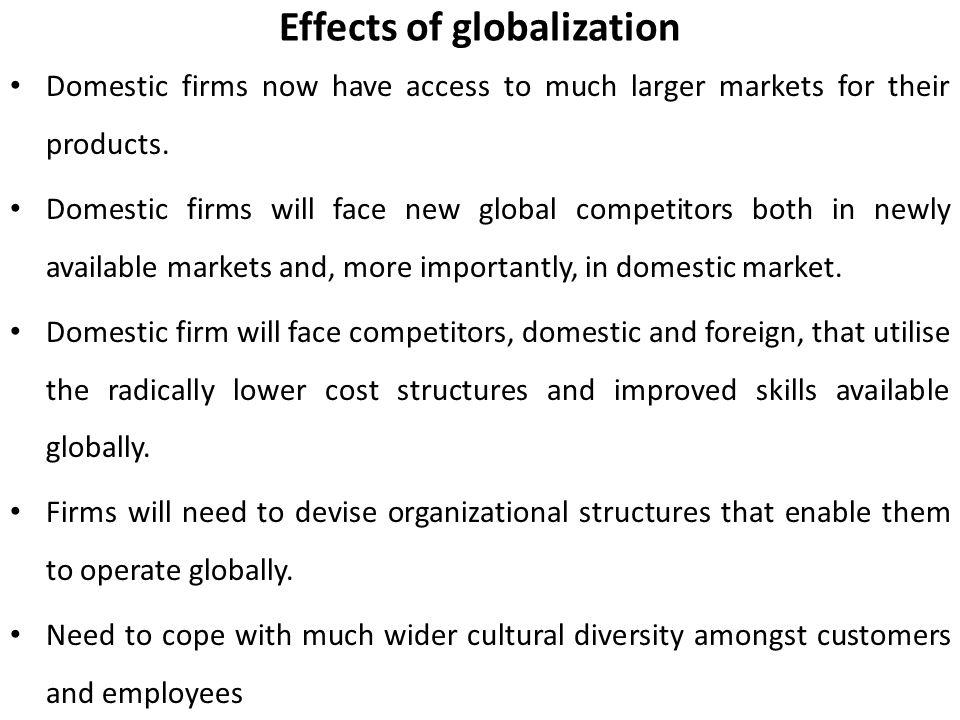 impact of globalization on international business