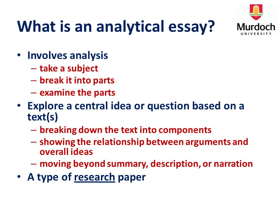 Illiteracy Essay What Is An Analytical Essay All My Sons Essay also Essays On Engineering Analytical Essay  Introduction Lecture  What Is An Analytical  Hooks For Essays
