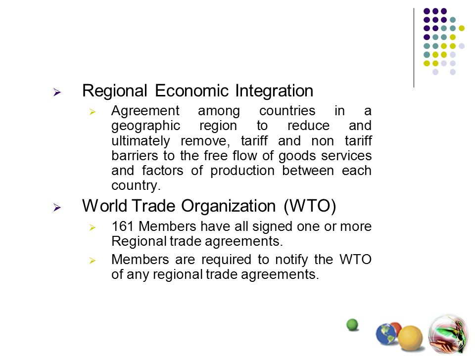 Regional Economic Integration Chapter9 Regional Economic
