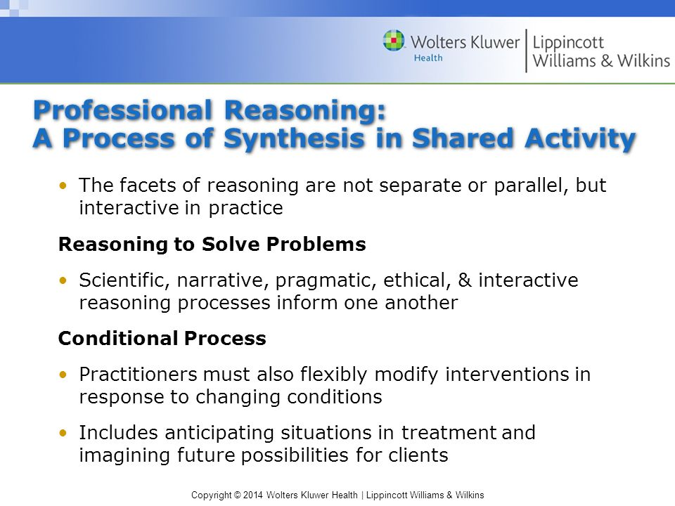 clinical and professional reasoning in occupational therapy