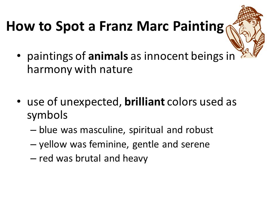 Franz Marc Expressionist Blue Horse I Does This Remind You Of