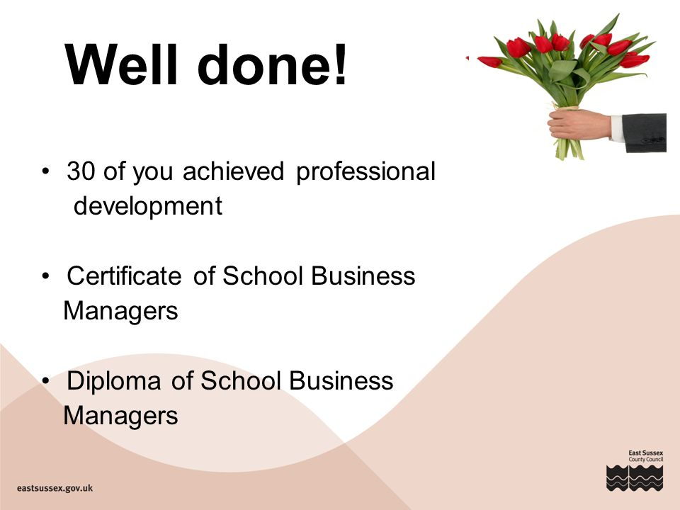 Thank you.. Well done! 30 of you achieved professional development ...