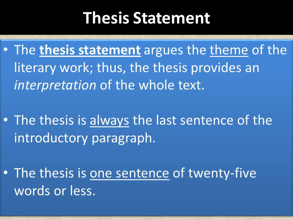 thesis statement for human nature