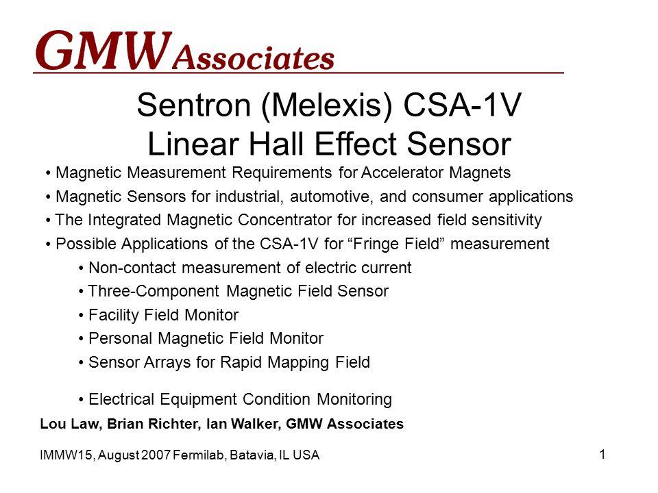 Sentron (Melexis) CSA-1V Linear Hall Effect Sensor Lou Law, Brian ...