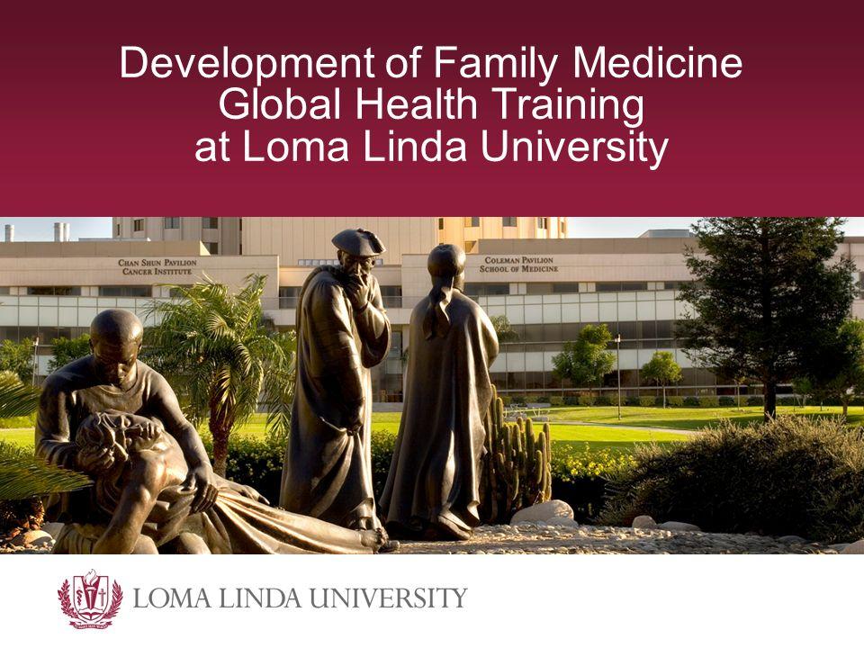Development of Family Medicine Global Health Training at