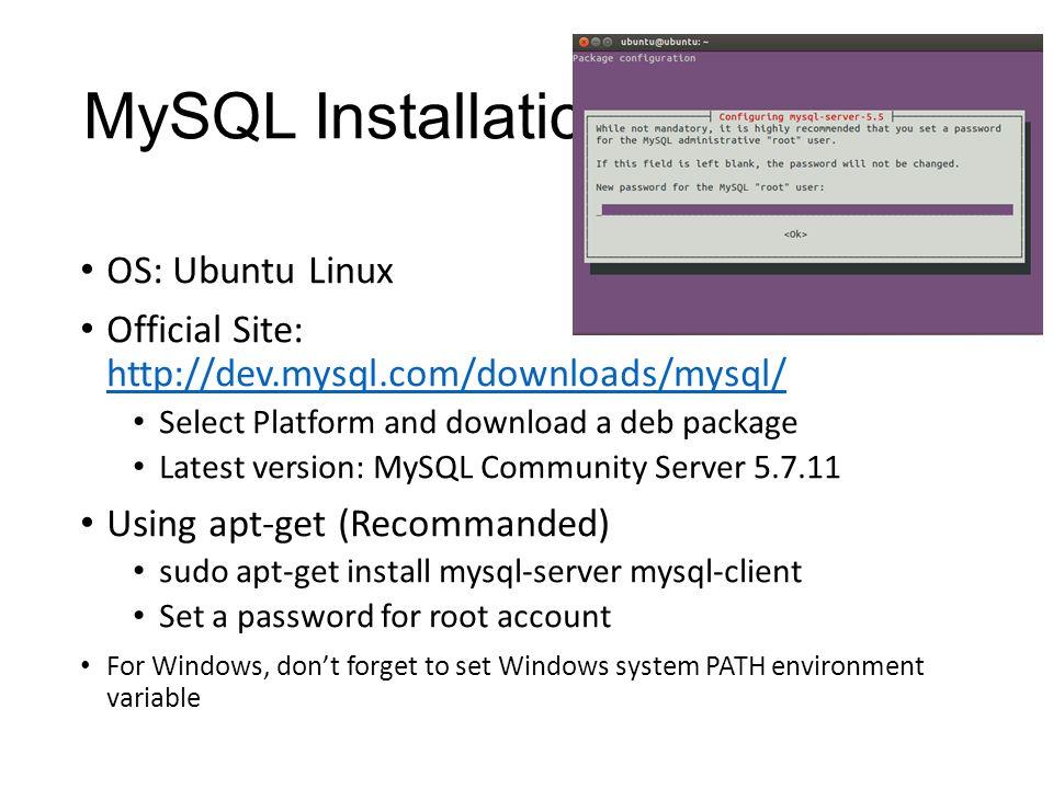 MySQL Introduction  Outline MySQL Introduction