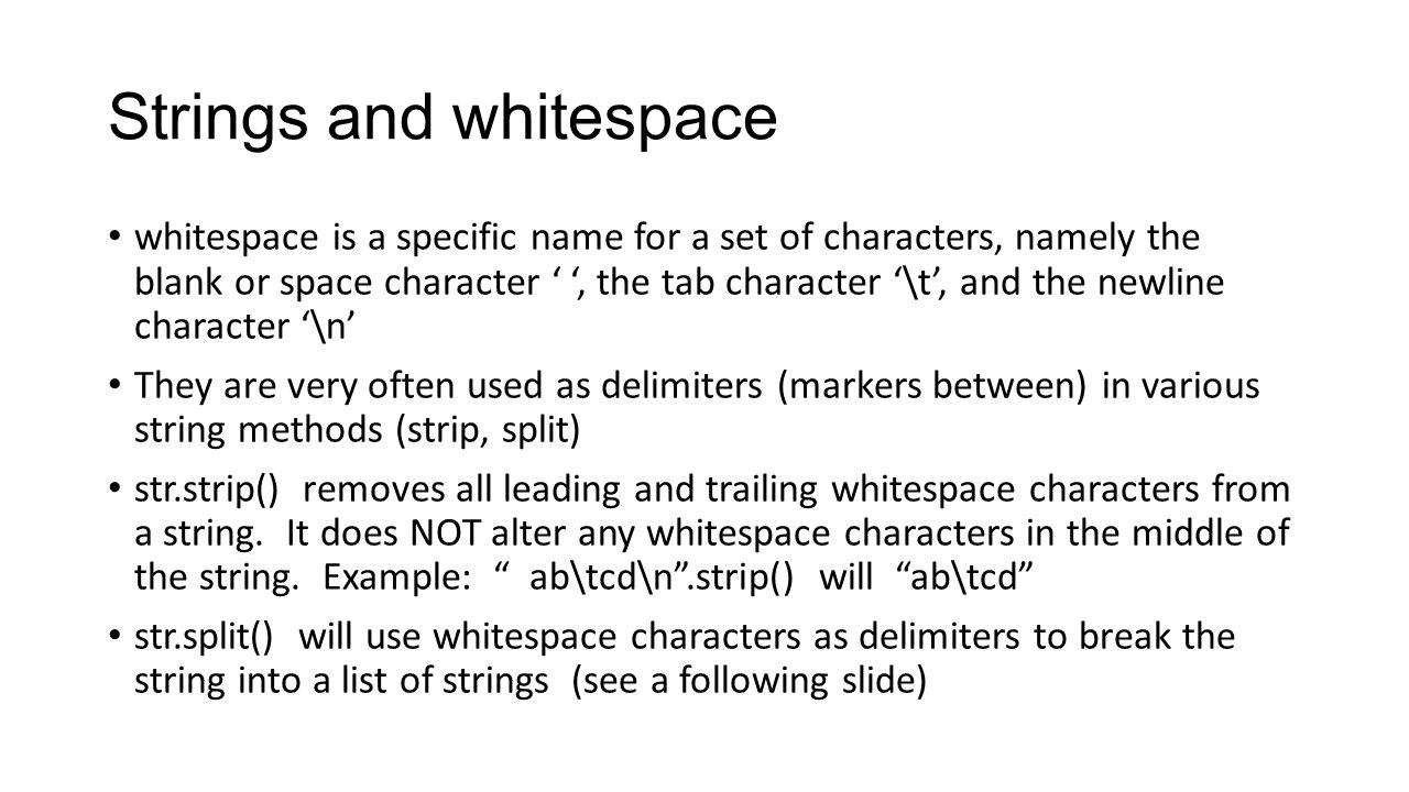 Python Strip Whitespace
