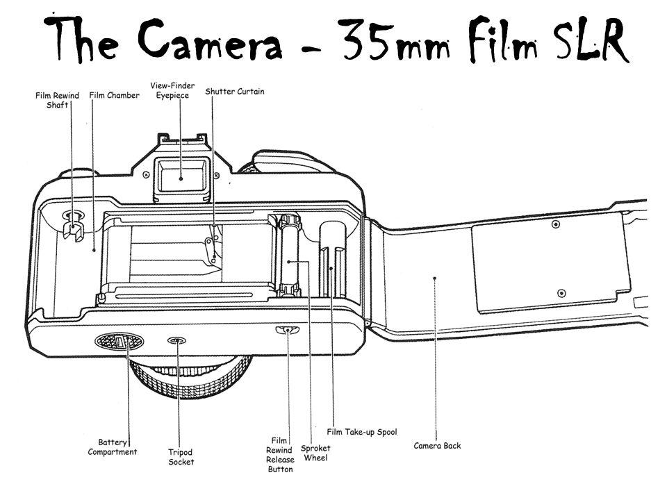 the camera using a 35mm slr camera an introduction to ppt download rh slideplayer com 35mm slr camera diagram 35Mm Film Camera Labeled