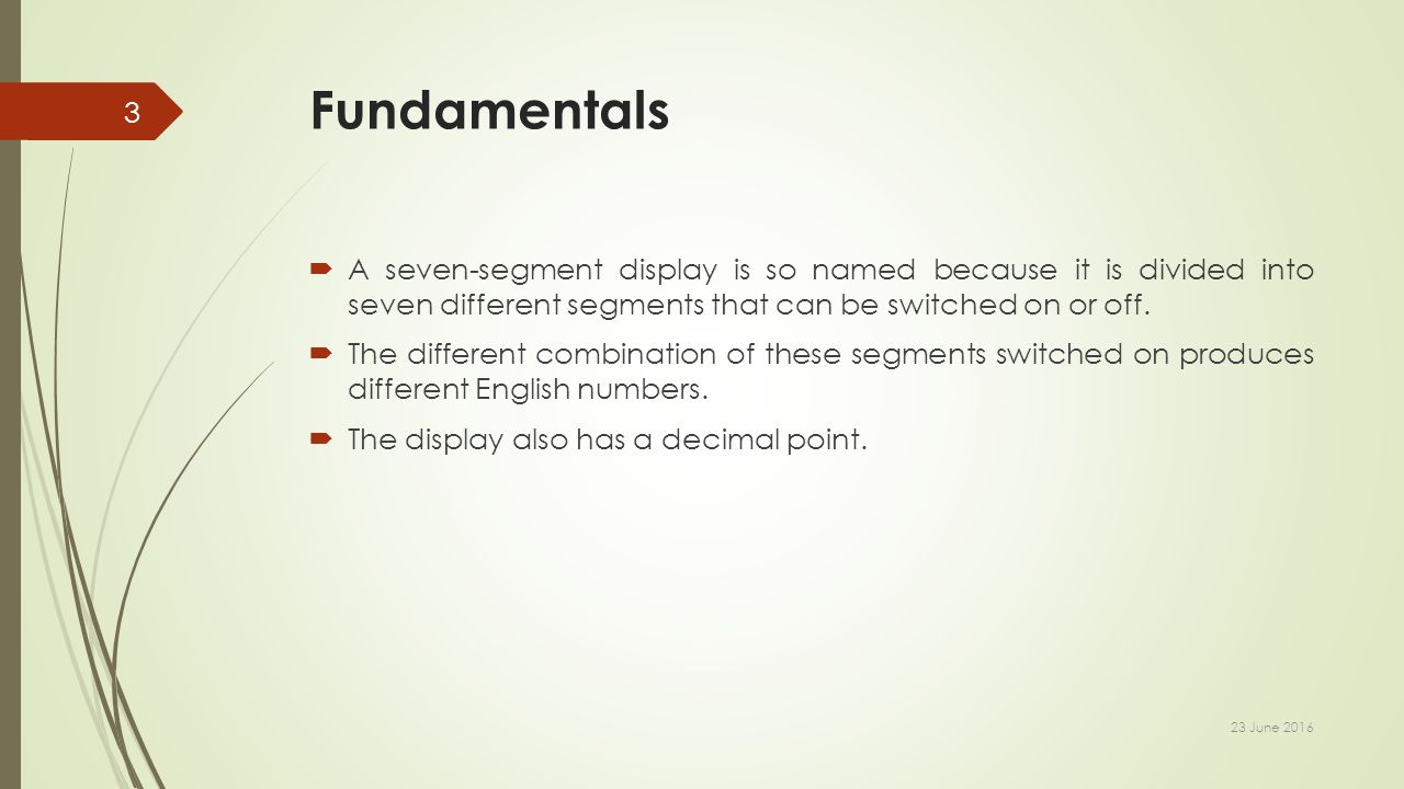 7 Segment Interface With Avr Microcontroller A D Patel Institute Segments Of Seven Display Fundamentals Is So Named Because It Divided Into