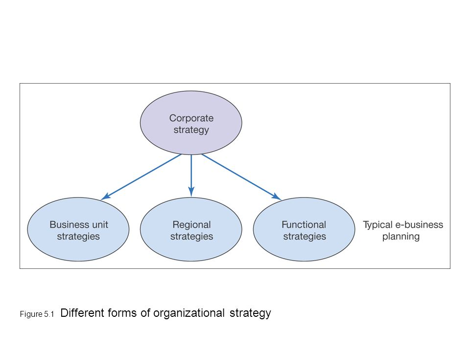 Figure 5.1 Different forms of organizational strategy