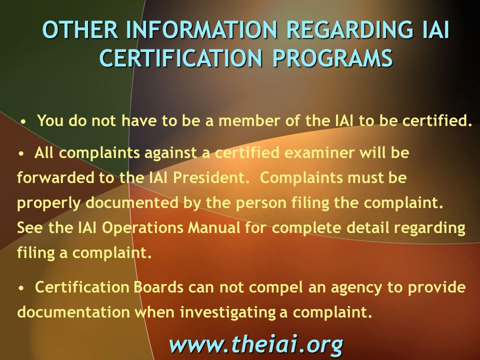 Certification Programs In The United States The Iai Latent Print
