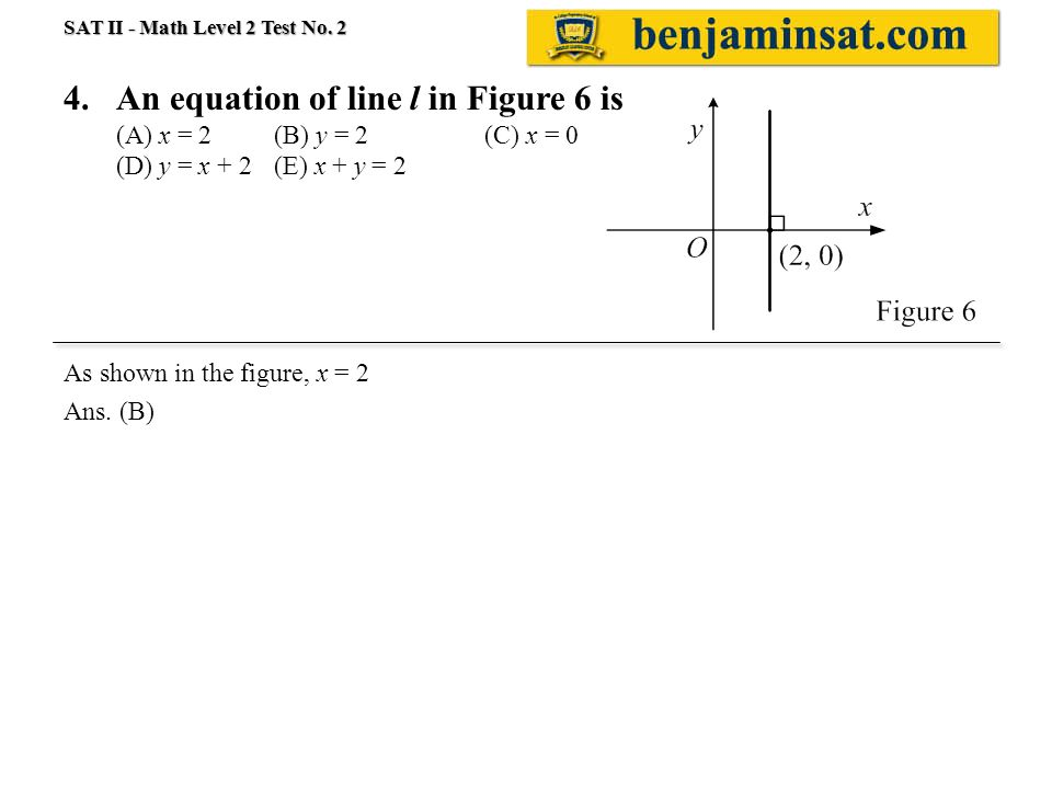 Sat Ii Math Level 2 Test 02 Solution 1e Positive Zero Of Y