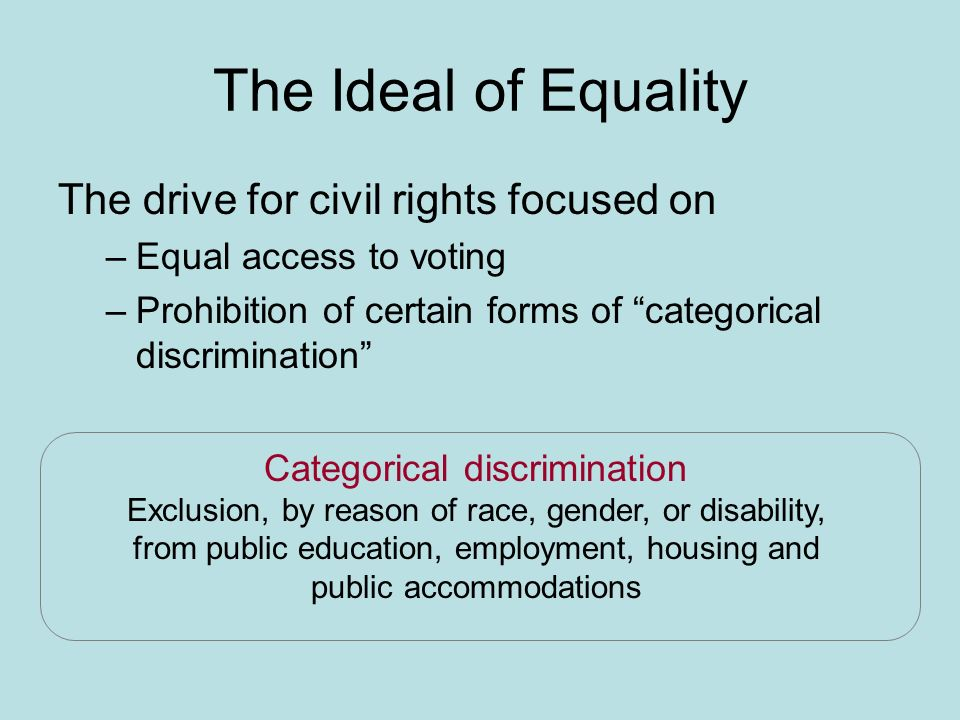 forms of equality