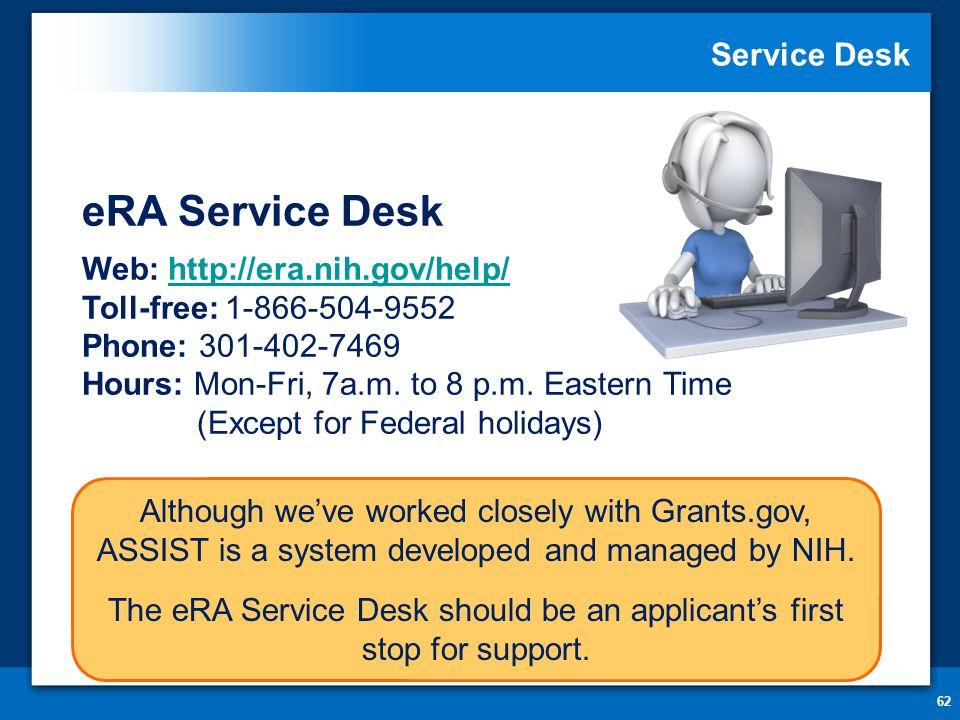62 Service Desk ...