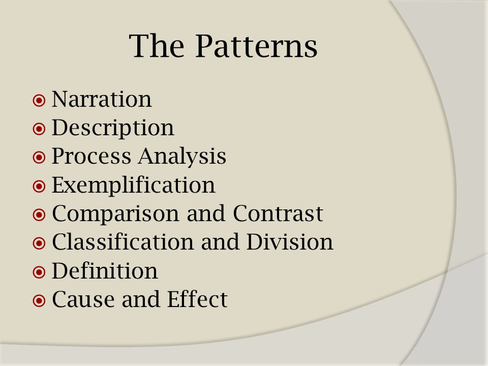 cause and effect pattern of development