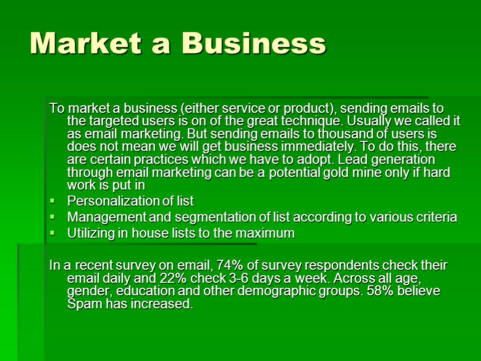 Best List Providers Review  Market a Business To market a
