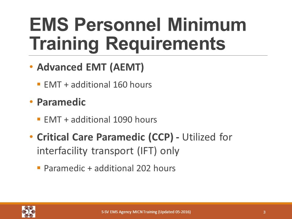 S Sv Ems Micn Course Module 2 Ems Prehospital Personnel Training And